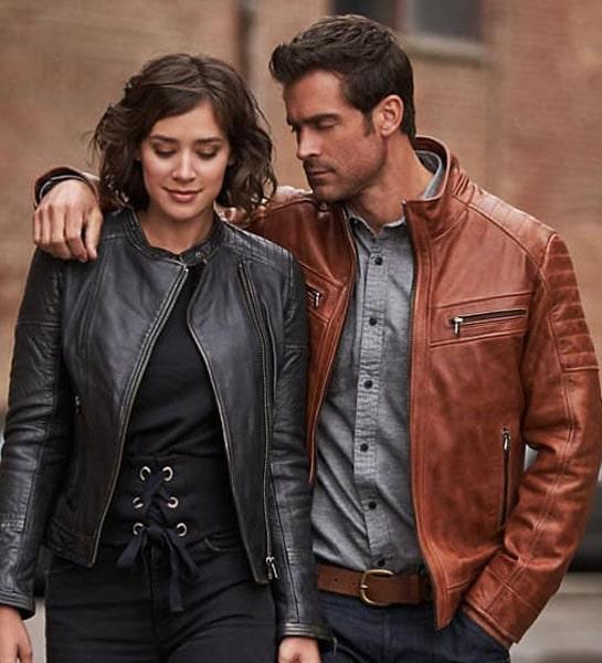 men & women fashion leather jacket